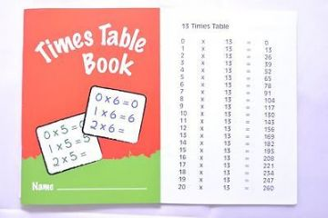 TIMES TABLE PRACTICE BOOK SCHOOL BOOK EXERCISE BOOK A6 by IVY
